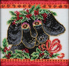 Mill Hill / Laurel Burch - Christmas Puppy
