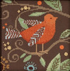 Mill Hill / Debbie Mumm - Orange Bird Out on a Limb