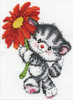 Design Works -  Red Daisy Cat