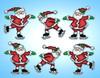 Design Works  - Skating Santas Ornament Set (6)