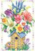 Janlynn - Spring Birdhouse Bouquet