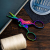 """Singer - Forged Unicorn Embroidery Colorful Spectrum Scissors 4"""""""