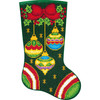 Plaid / Bucilla Gem Dots - Jeweled Ornaments Christmas Stocking