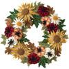 Plaid / Bucilla - Fall Floral Wreath