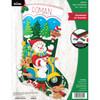 Plaid / Bucilla - Snowman on Scooter Christmas Stocking