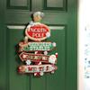 Plaid / Bucilla -  Christmas Street Signs Wall Hanging