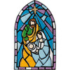 Plaid / Bucilla -  Stained Glass Nativity Wall Hanging