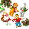 Plaid / Bucilla -  Christmas In Oz Ornaments