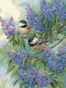 Gold Collection - Chickadees and Lilacs