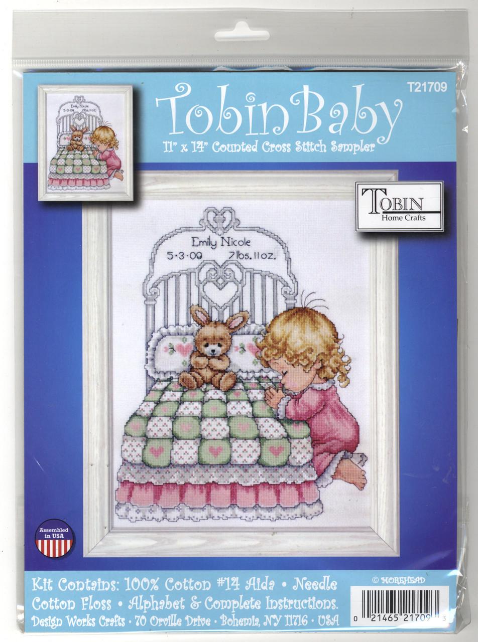 Design Works - Bedtime Prayer Girl Birth Record