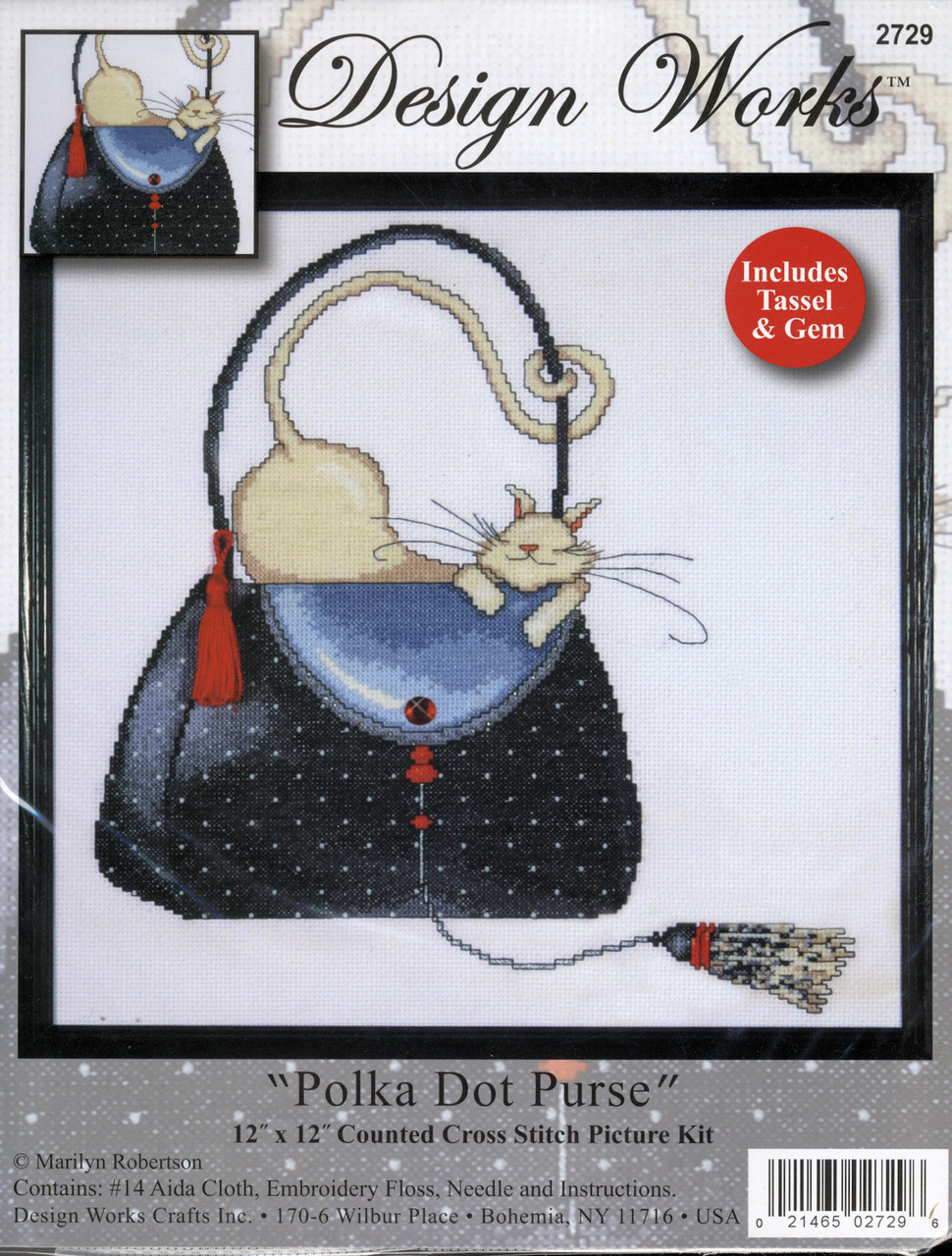 Design Works - Polka Dot Purse