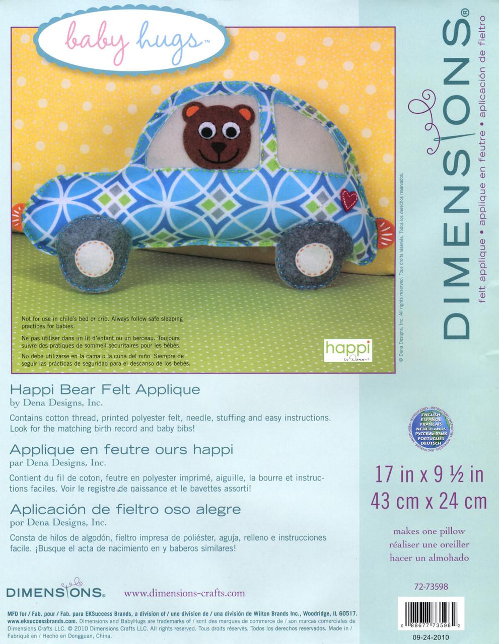 Dimensions Baby Hugs - Happi Bear Pillow