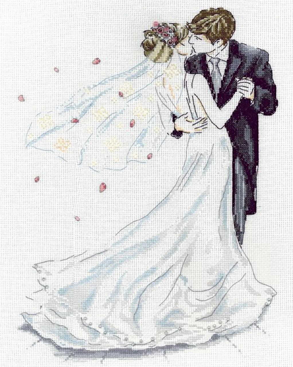 Design Works - Wedding Couple First Kiss
