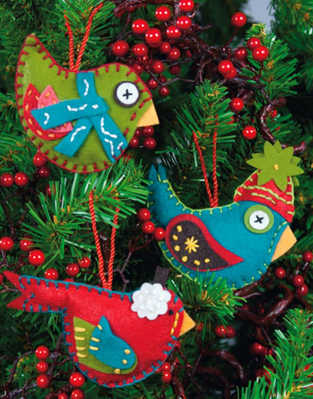 Dimensions - Whimsical Bird Ornaments