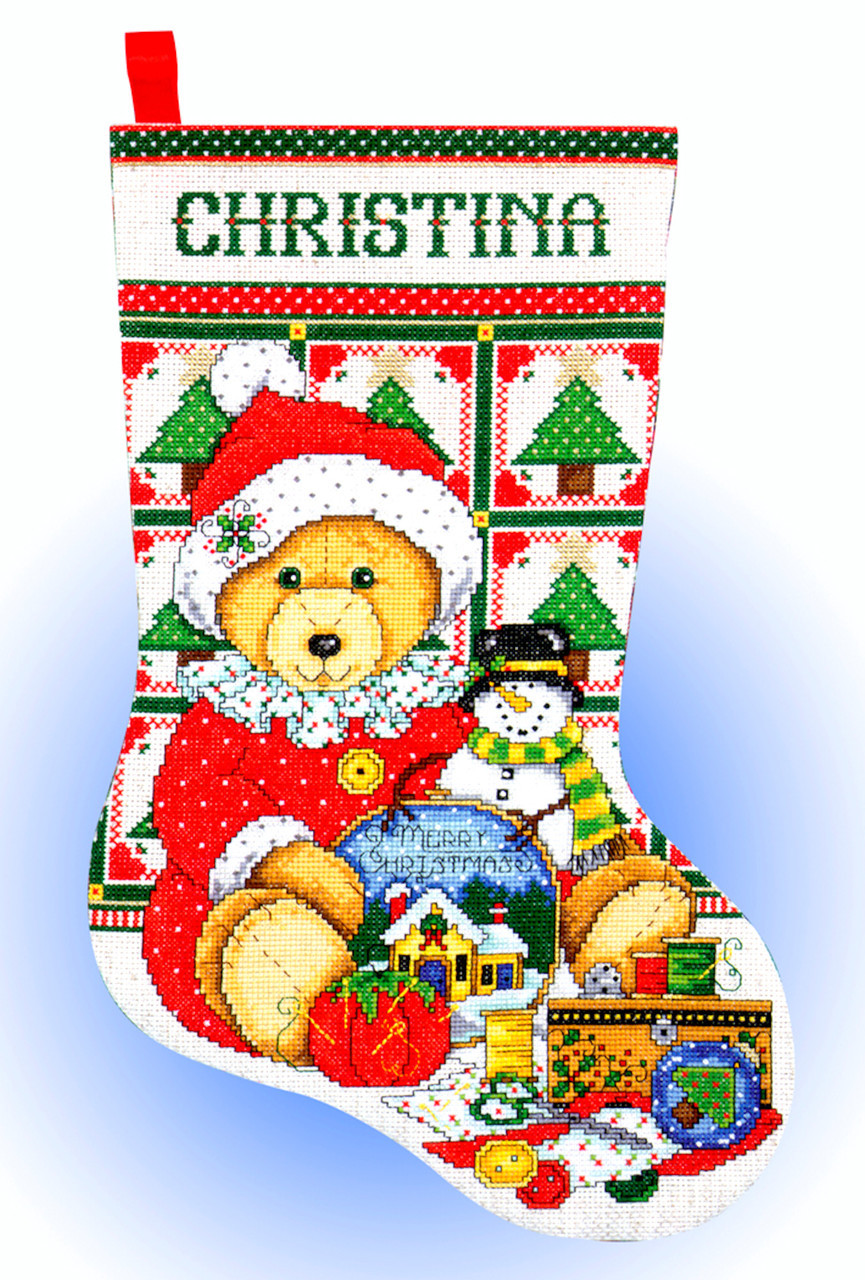 Design Works - Stitching Teddy Stocking