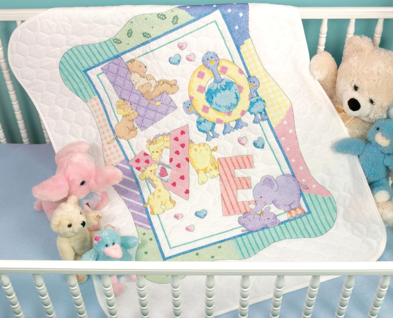 Dimensions Baby Hugs - Zoo Alphabet Quilt