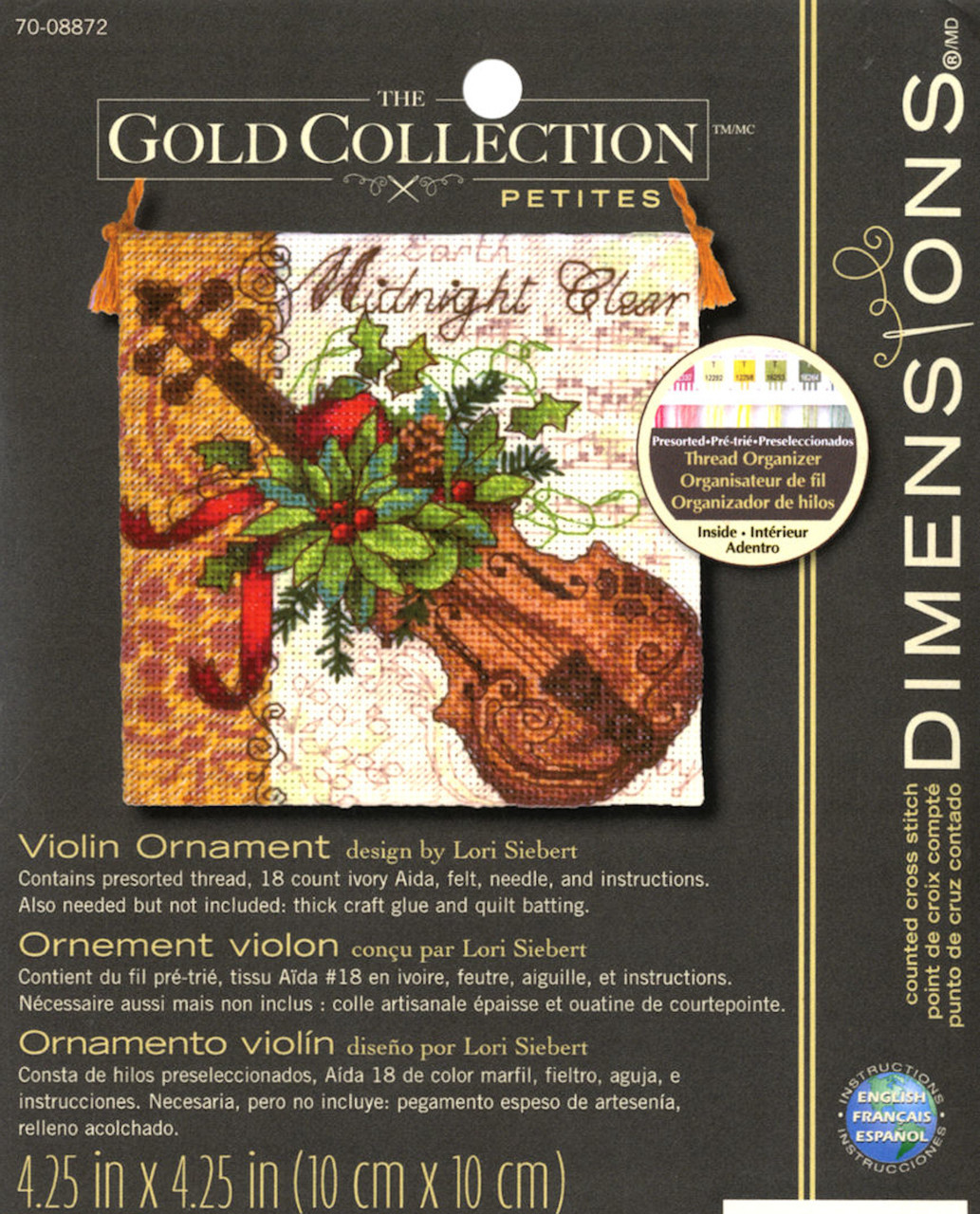 Gold Collection Petites - Violin Ornament