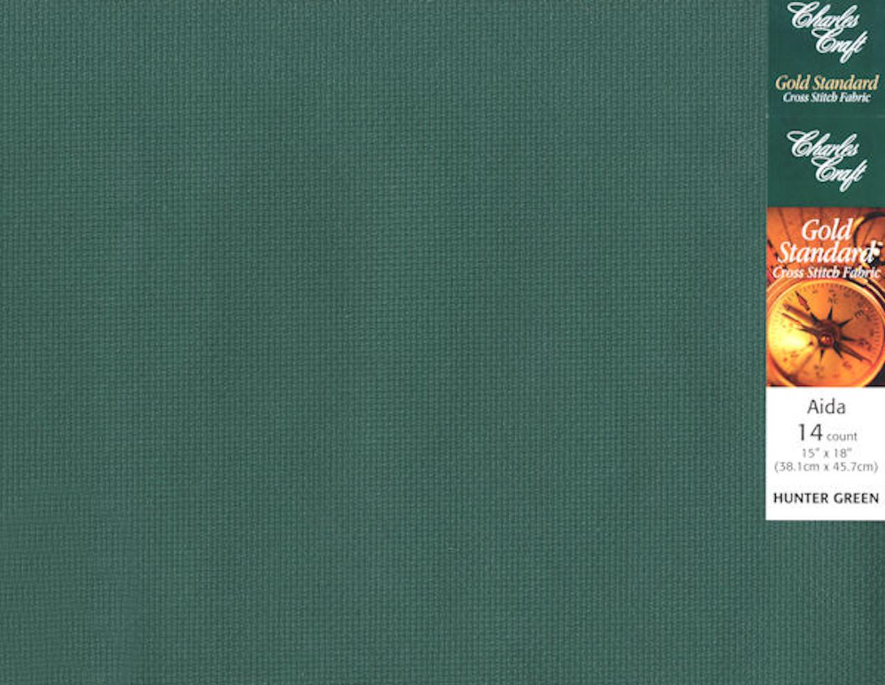 Charles Craft - 14 Ct Hunter Green Aida 15 x 18 in