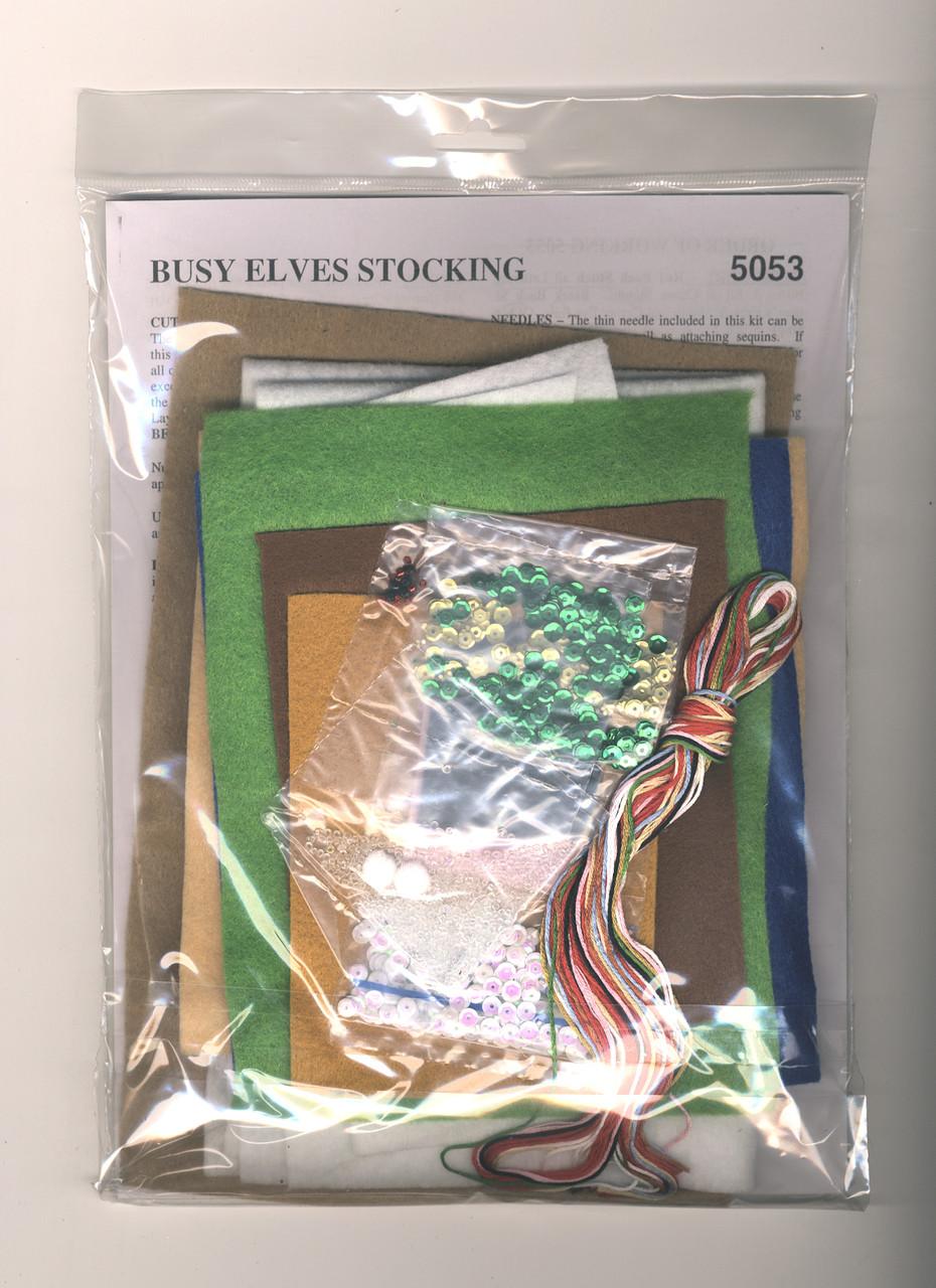 Design Works - Busy Elves Stocking
