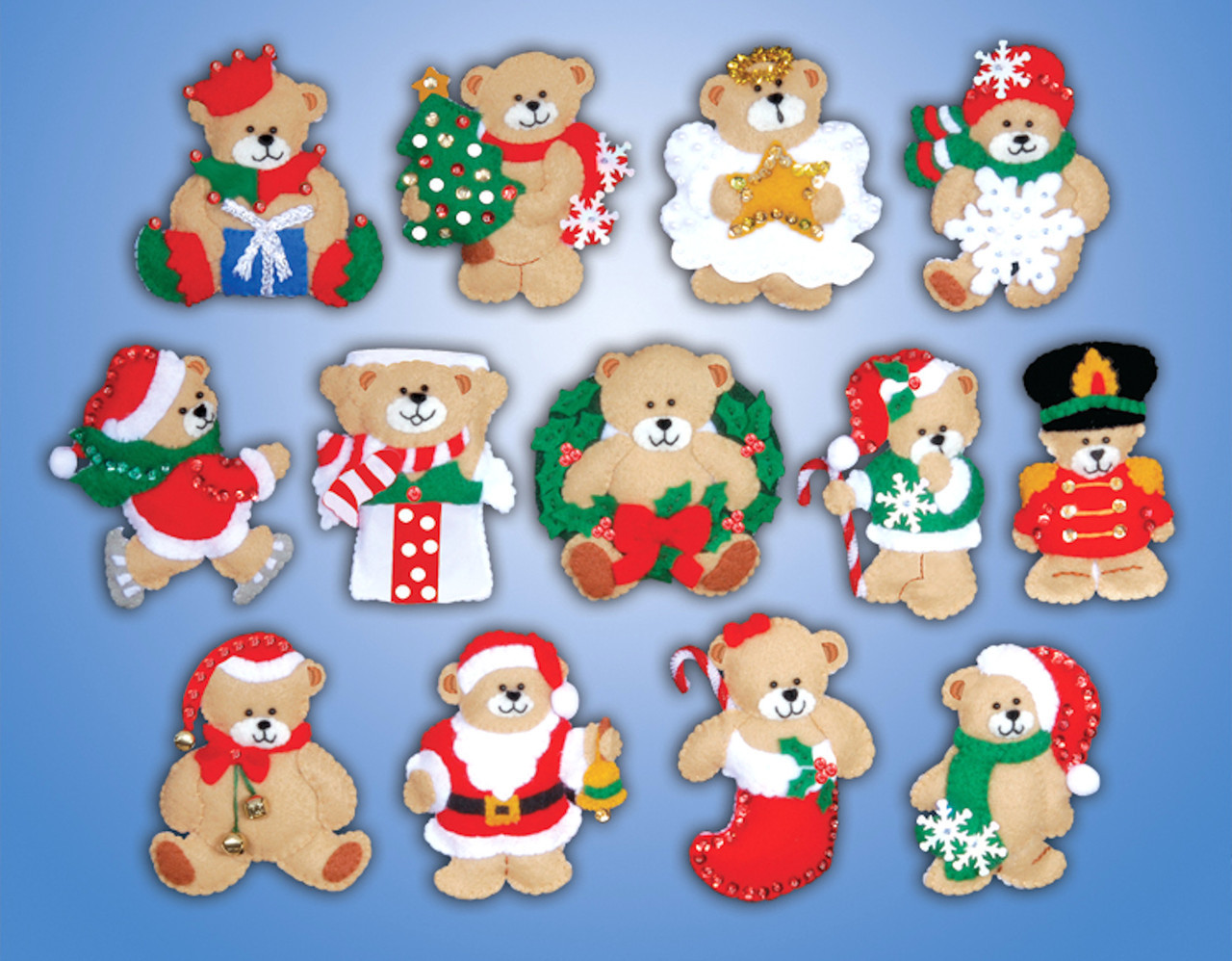 Design Works - Lotsa Bears Ornaments (13)