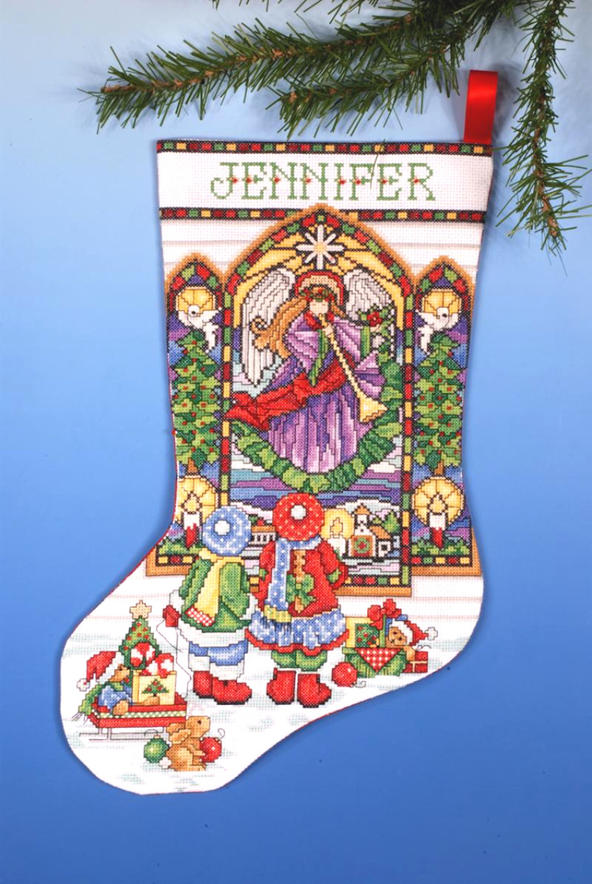 Design Works - Stained Glass Window Stocking