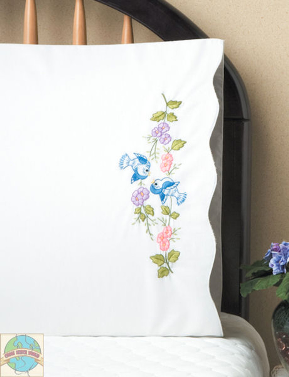 Design Works - Bluebirds Pillowcases (2)