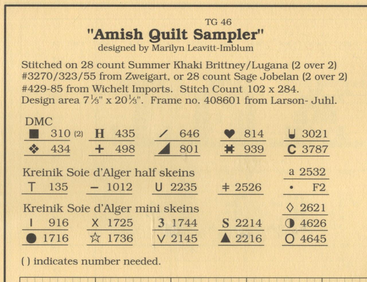 Told In A Garden - Amish Quilt Sampler