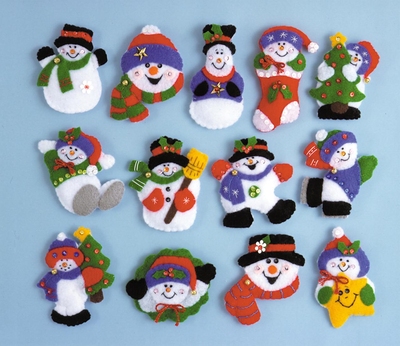 Design Works - Lotsa Fun - 13 Snowman Ornaments