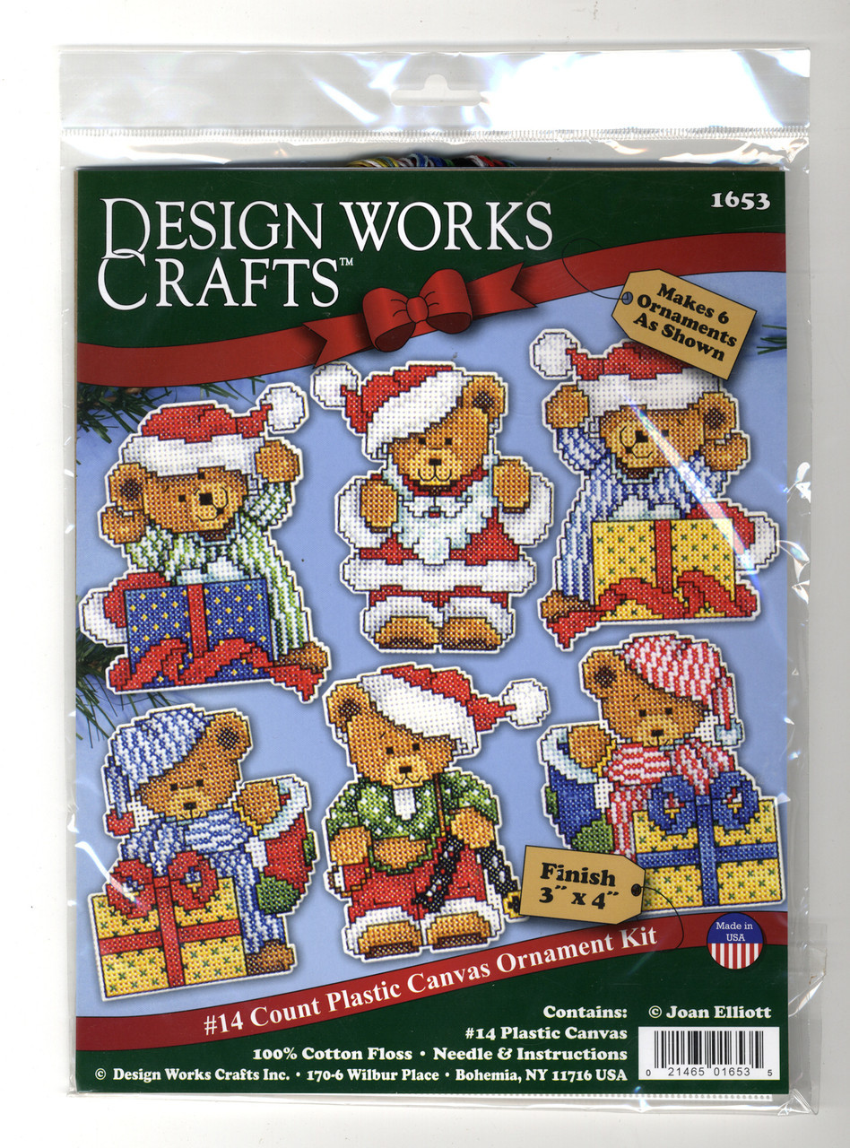 Design Works - Little Bears Ornament Set (6)