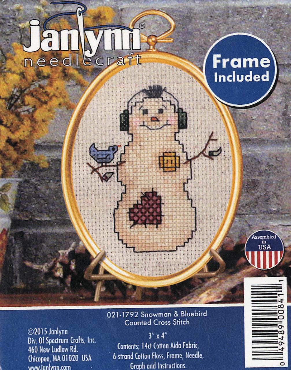 Janlynn - Snowman & Bluebird