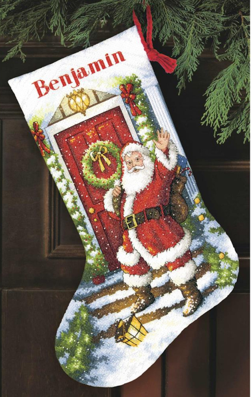 Gold Collection - Welcome Santa Stocking