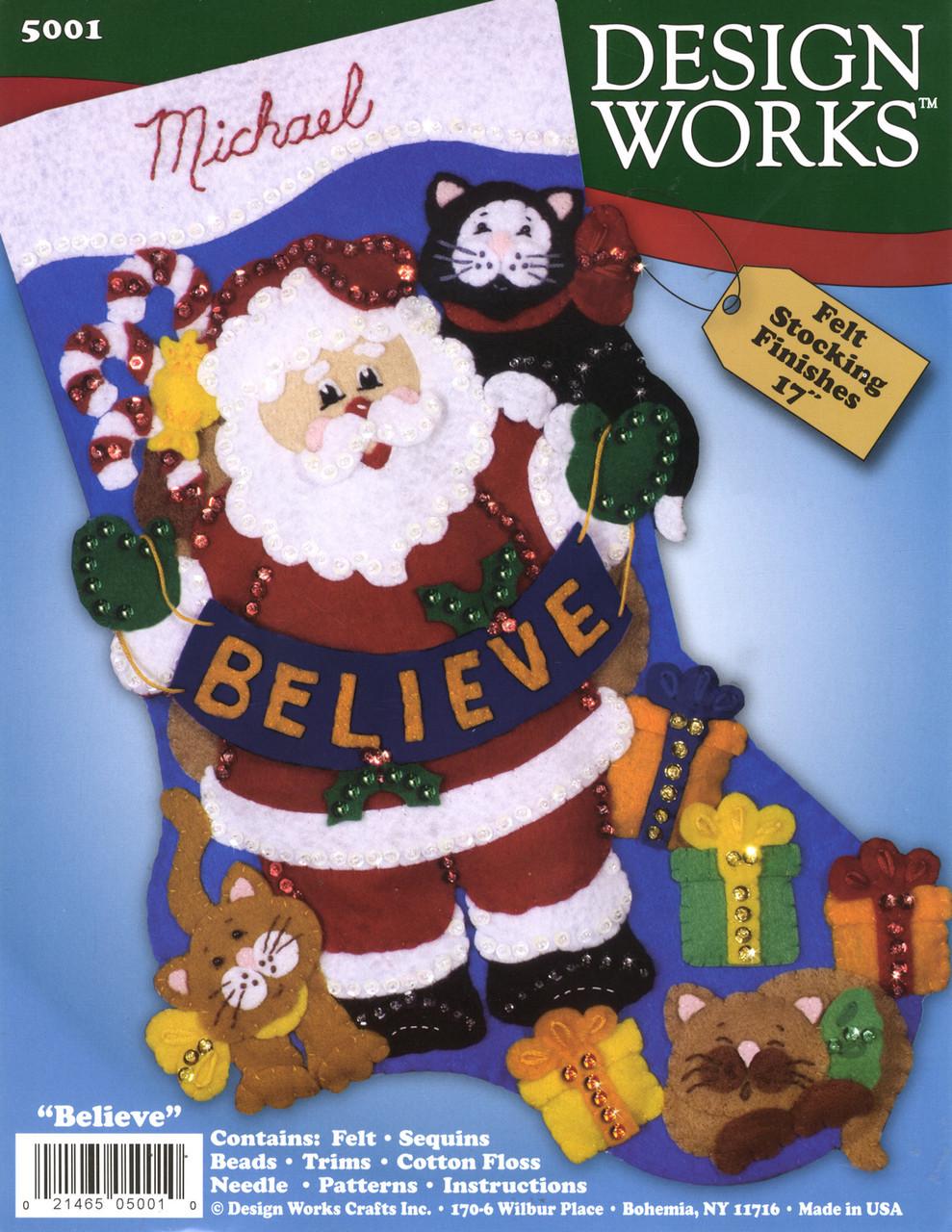 Design Works - Believe Stocking