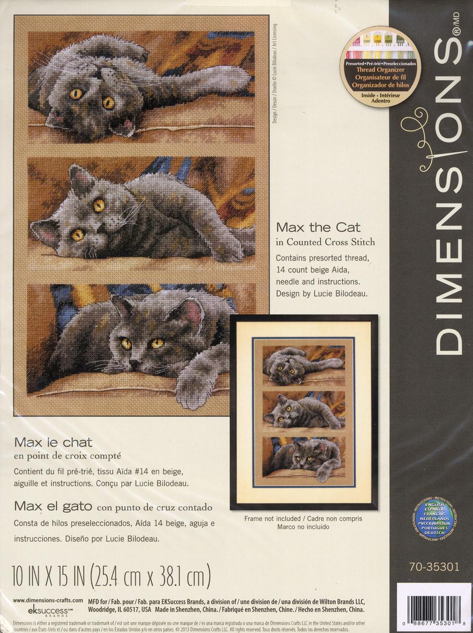 Dimensions - Max the Cat