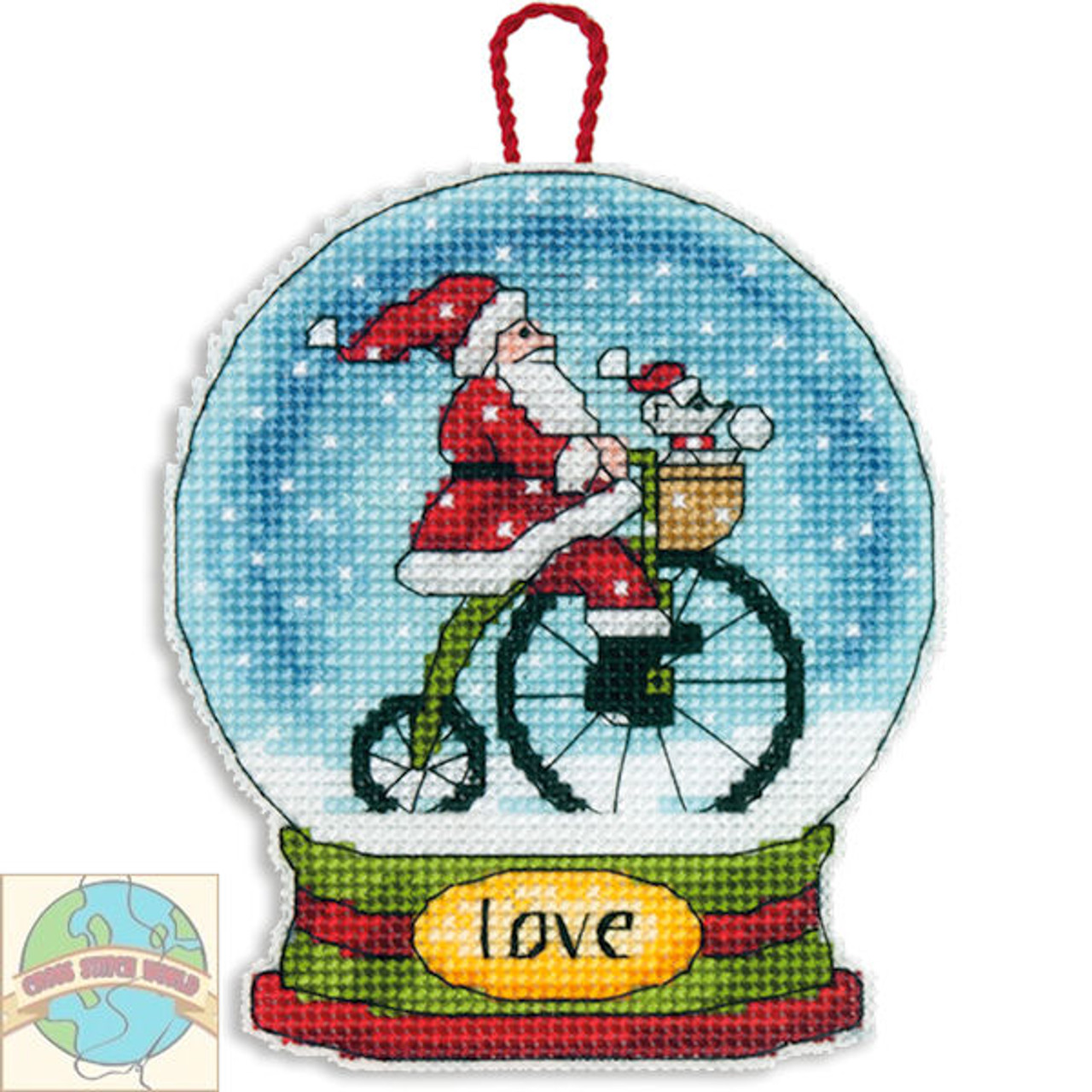 Dimensions - Love Snow Globe Ornament