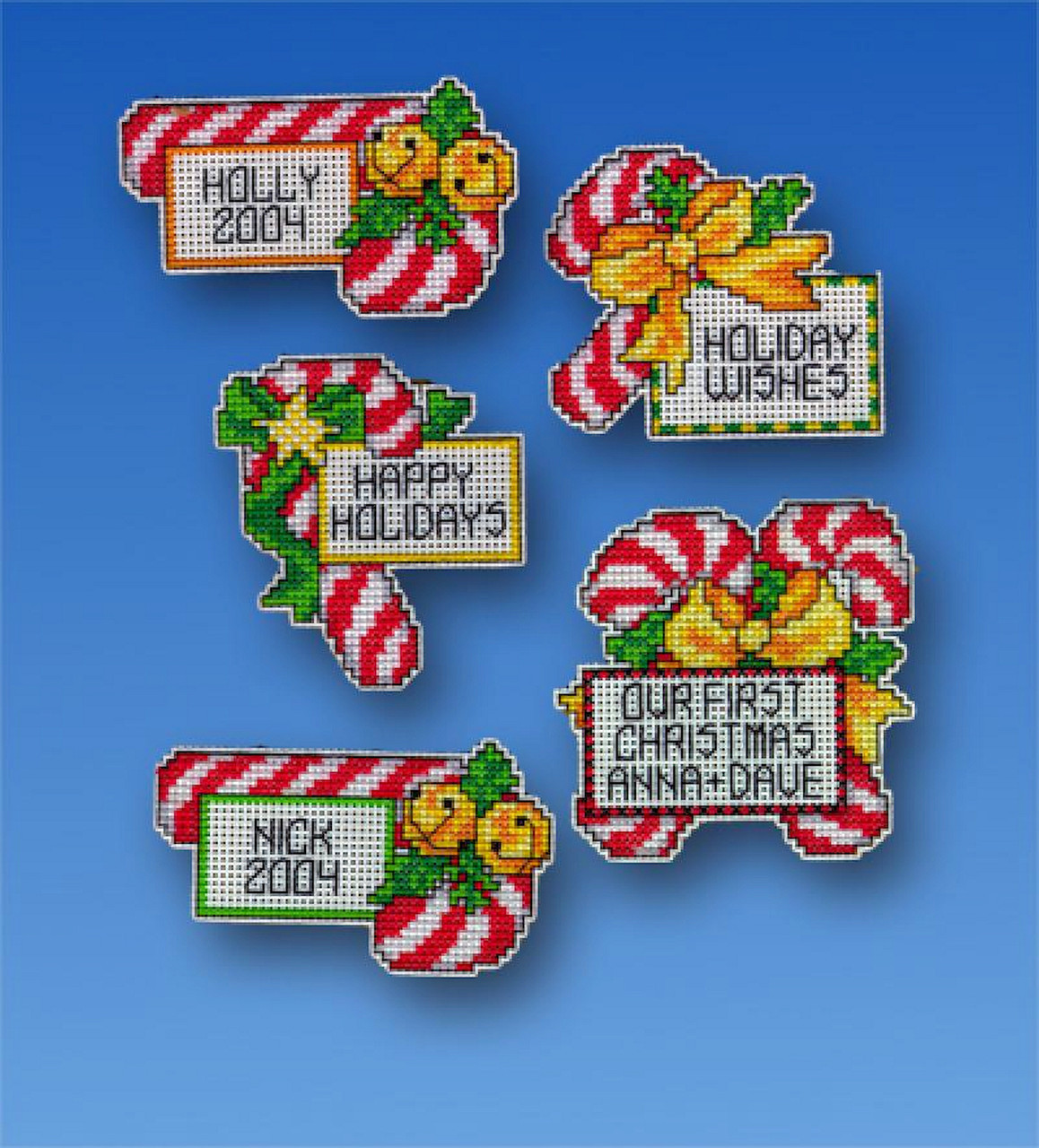Design Works - Candy Cane Ornament Set (6)
