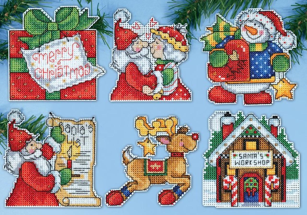 Design Works - Santa's Workshop Ornament Set (6)