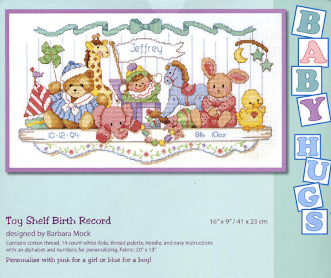 Dimensions - Toy Shelf Birth Record