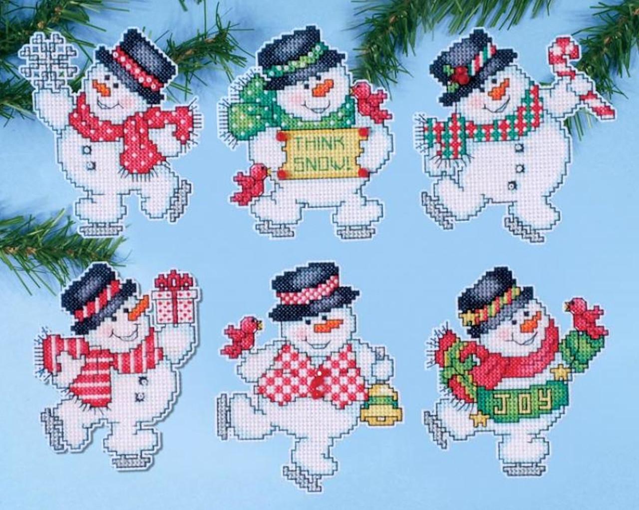 Design Works - Think Snow Ornament Set (6)