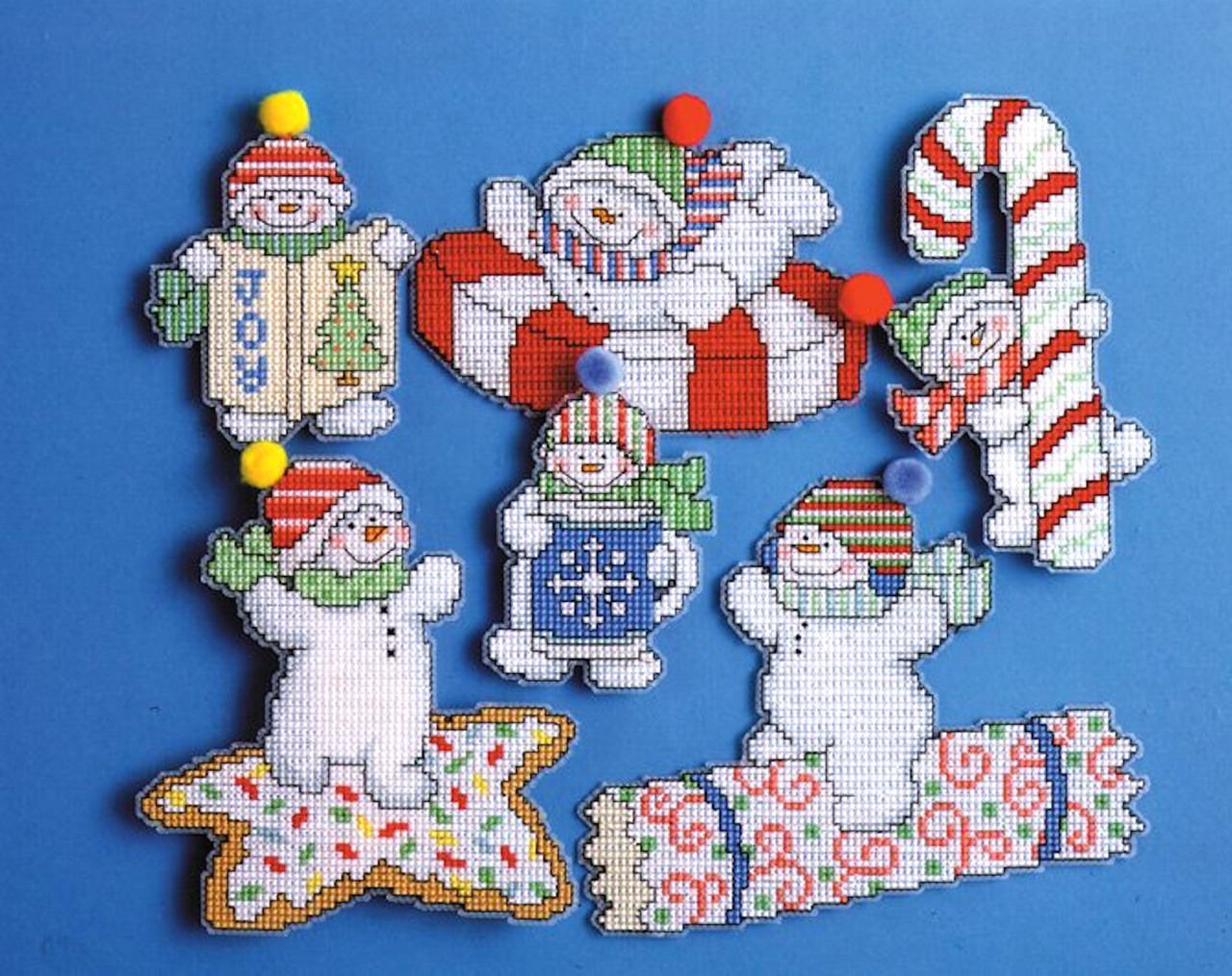Design Works - Sweetie Snowmen Ornament Set (6)