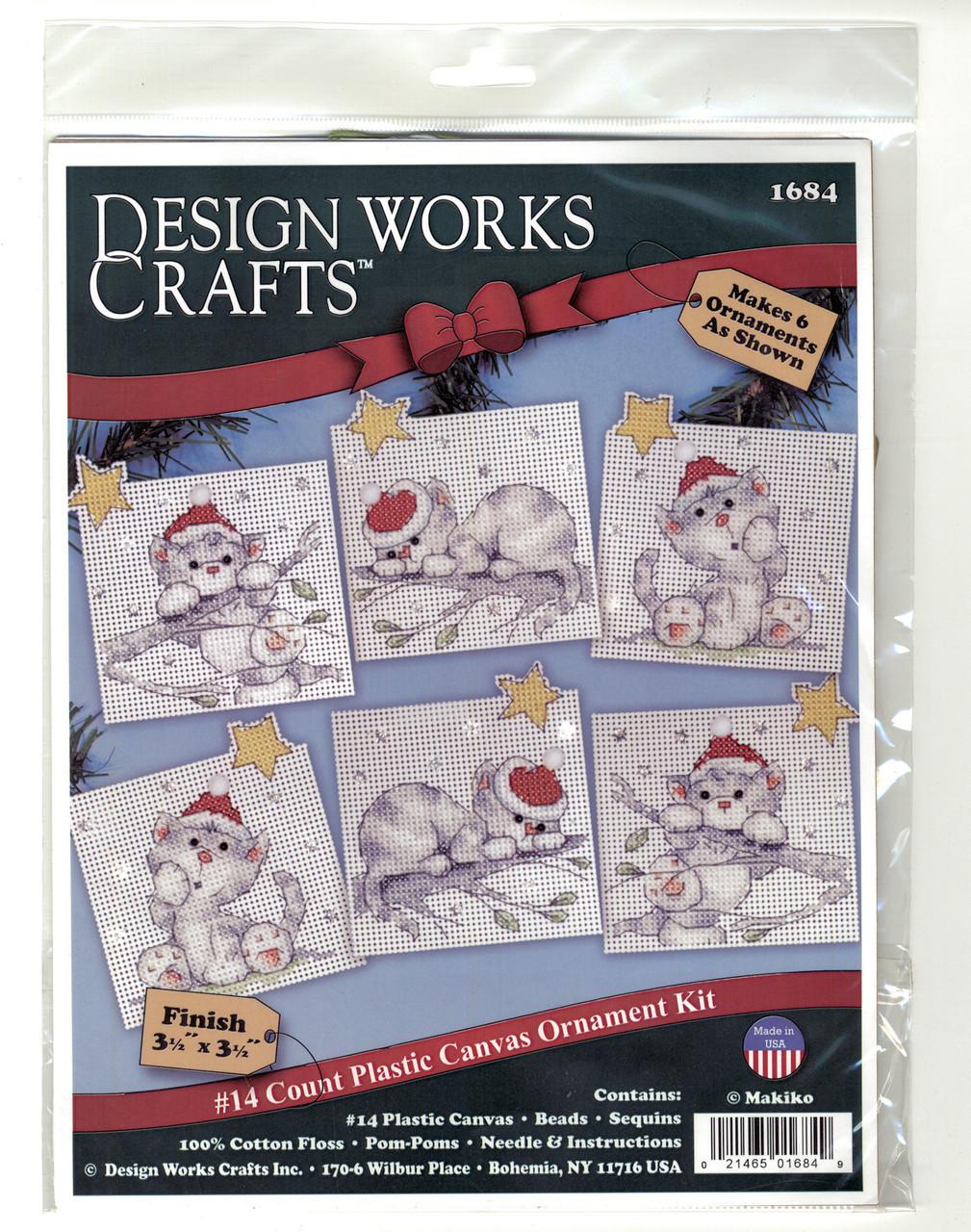 Design Works - Christmas Cats Ornament Set (6)