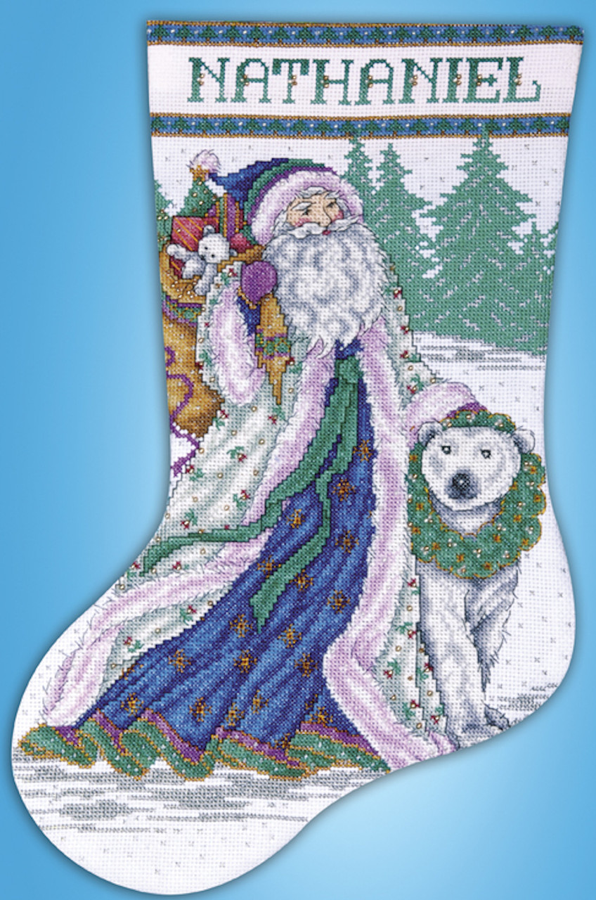 Design Works - Santa and Polar Bear Stocking