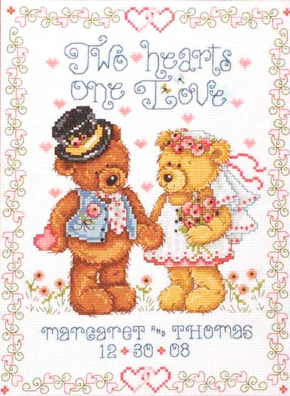 Design Works - Two Hearts Wedding Sampler