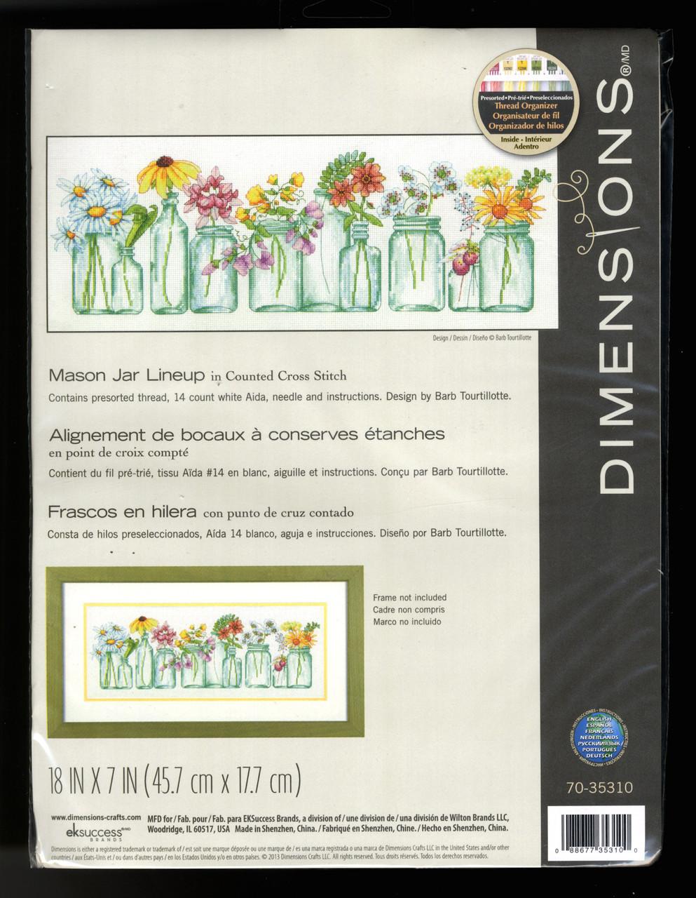 Dimensions - Mason Jar Lineup