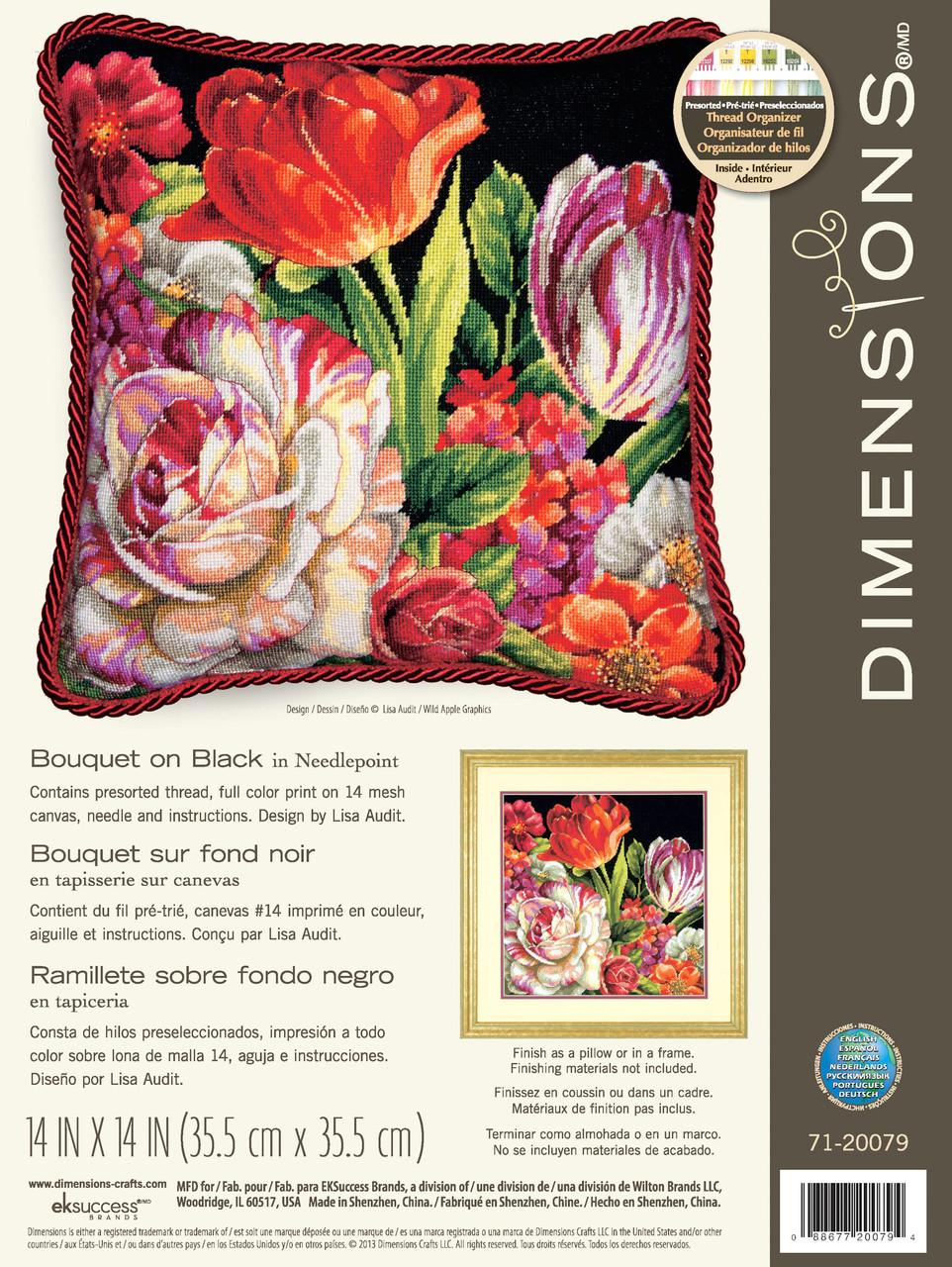 Dimensions - Bouquet on Black
