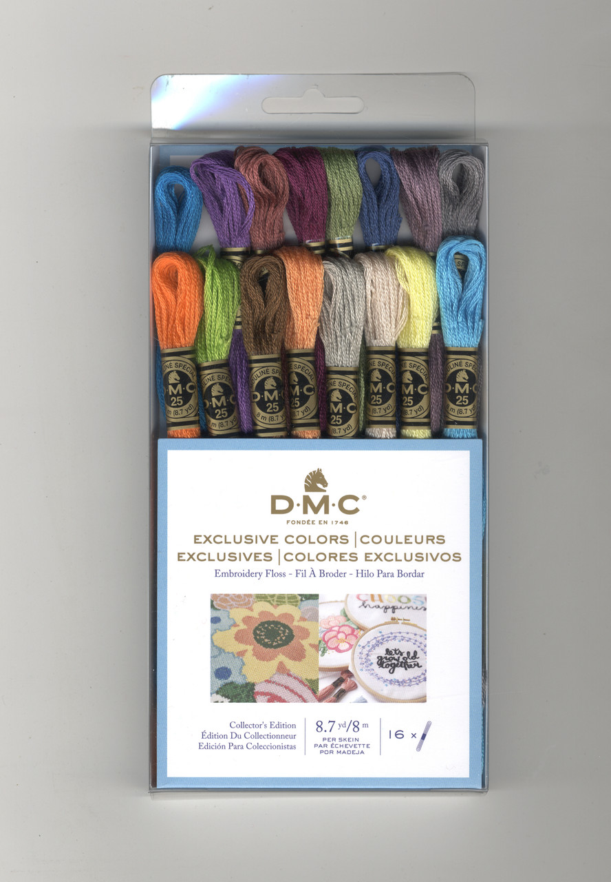 DMC - 16 Exclusive Embroidery Floss Colors