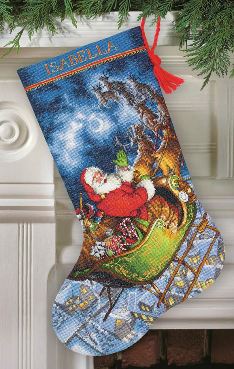 Gold Collection - Santa's Flight Stocking