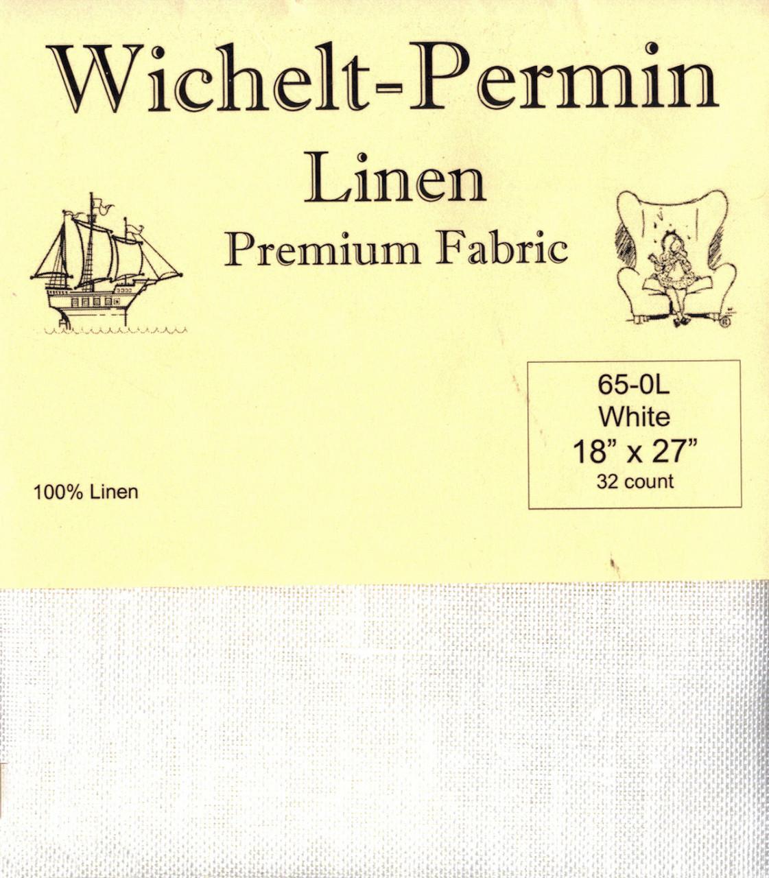 Wichelt - 32 Ct White Linen 18 x 27 in