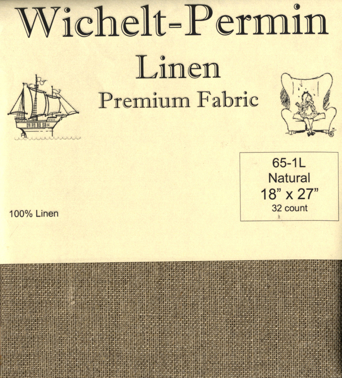Wichelt - 32 Ct Natural Brown Linen 18 x 27 in