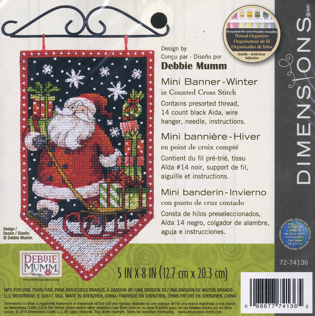 Dimensions / Debbie Mumm - Winter Mini Banner