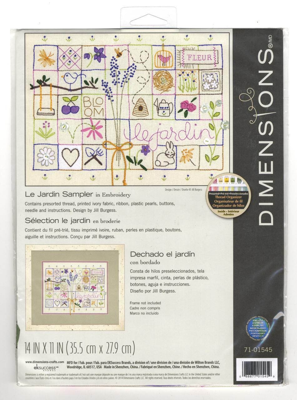 Dimensions - Le Jardin Sampler